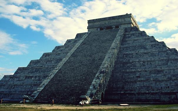 Фото обои майя, пирамида, мексика, Chichen Itza