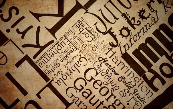 Фото обои арт, текстура, текст, буквы, набор слов