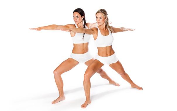 Фото обои white, women, pose, yoga