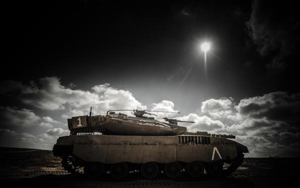 Фото обои оружие, танк, merkava