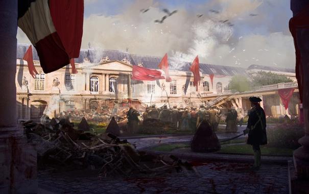 Фото обои кровь, флаг, франция, революция, art
