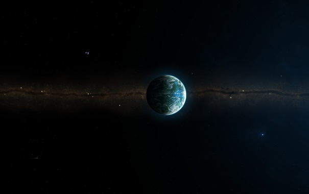 Фото обои скопление, звезды, комета, звездное