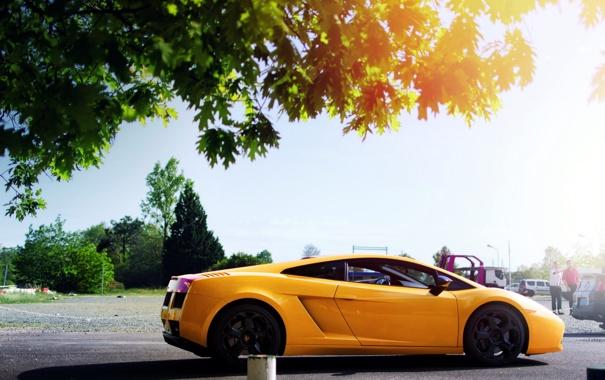 Фото обои машина, свет, Lamborghini Gallardo