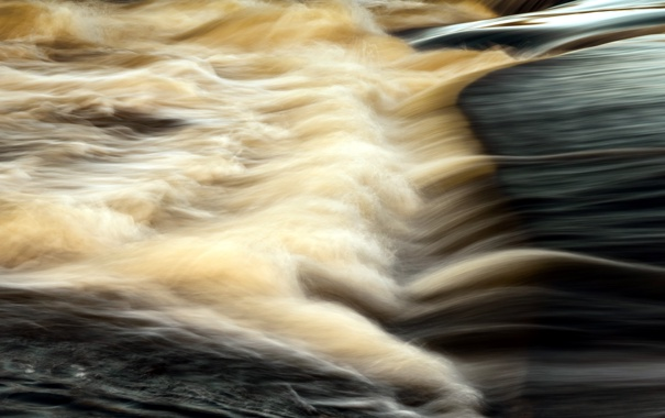 Фото обои вода, природа, река, поток
