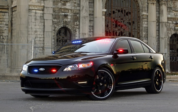 Фото обои машины, полиция, тачки, ford, police, interceptor, stealth