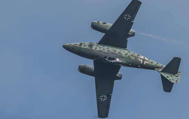 Фото обои полет, истребитель, бомбардировщик, реактивный, Me-262A