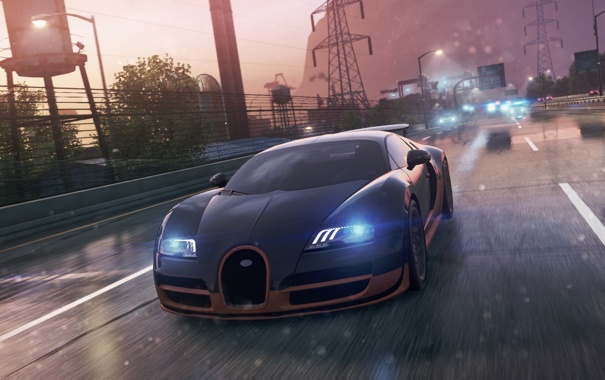Фото обои 2012, Bugatti Veyron Super Sport, Need for speed, Most wanted
