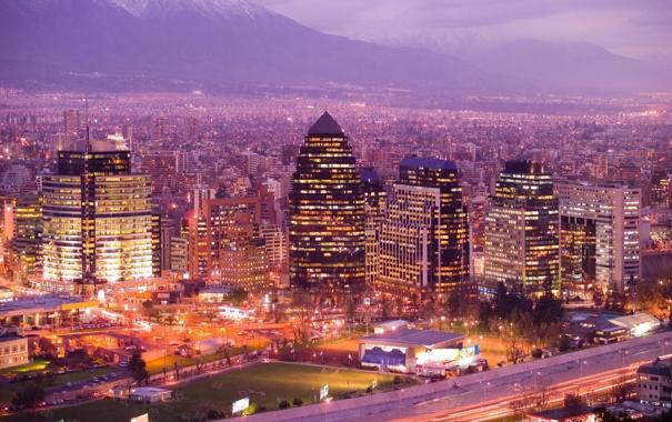 Фото обои город, огни, здания, вечер, Evening beauty