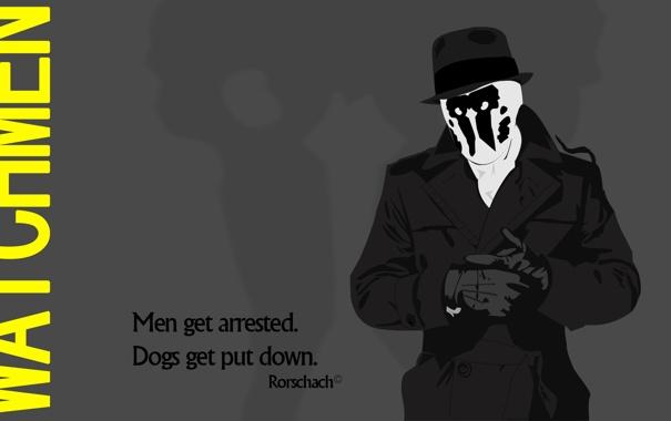Фото обои Роршах, rorschach, watchmen, смотрители