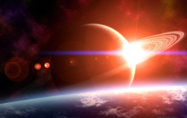 Фото обои космос, планеты, space, star, planets, starlight