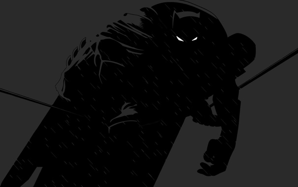 Фото обои тень, бэтмен, силуэт