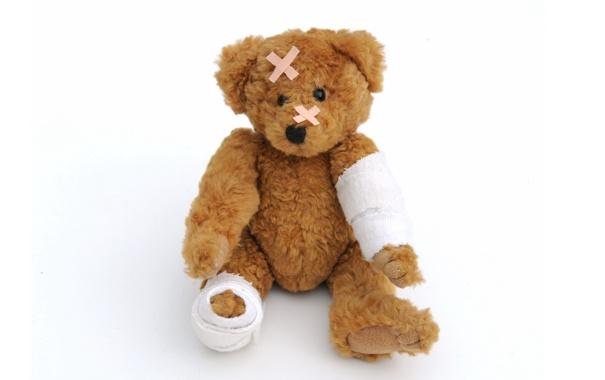 Фото обои игрушка, медведь, мишка, toy, bear, пластырь, cute