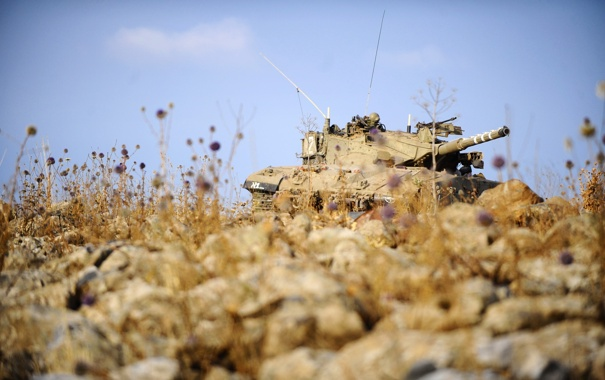Фото обои оружие, фон, танк