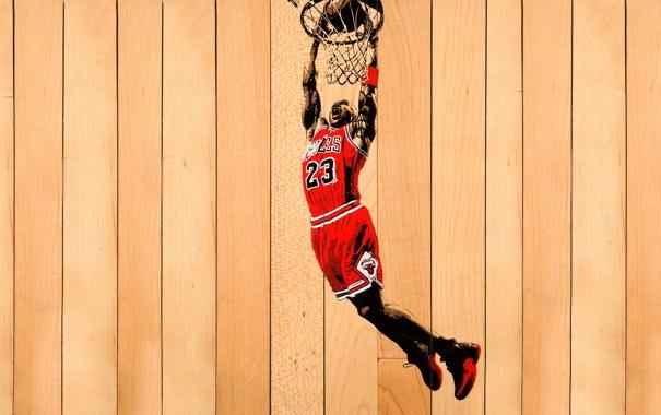 Фото обои Красный, Баскетбол, Доски, Michael Jordan, NBA, Майкл Джордан, Чикаго Буллз