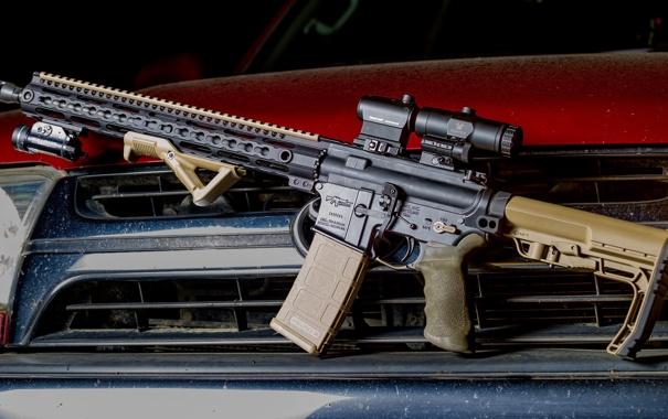 Фото обои винтовка, карабин, штурмовая, полуавтоматическая