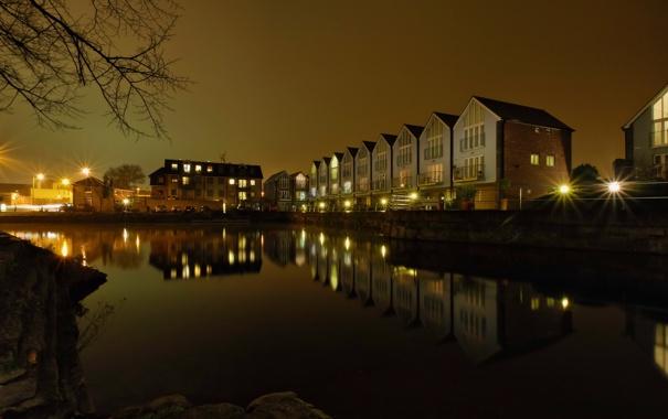 Фото обои ночь, England, Chichester