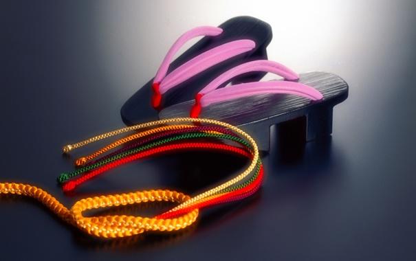 Фото обои япония, веревка, шнур, гэта