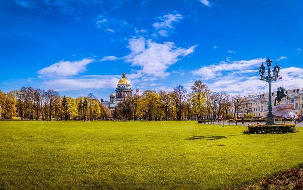 Фото обои Питер, Собор, Санкт-Петербург, Исаакиевский собор, Россия, Russia, cathedral