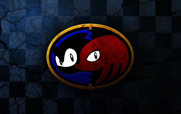 Фото обои эмблема, Sega, Sonic & Knuckles