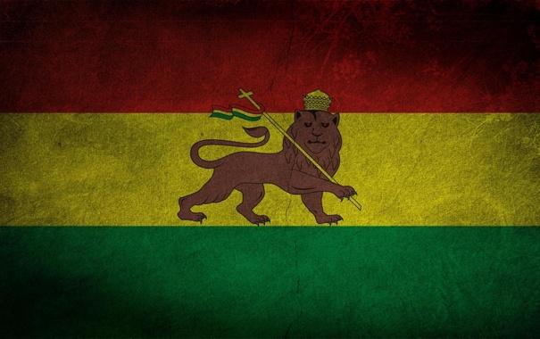 Фото обои флаг, герб, Боливия