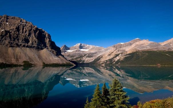 Фото обои пейзаж, горы, природа, озеро, Канада, национальный парк