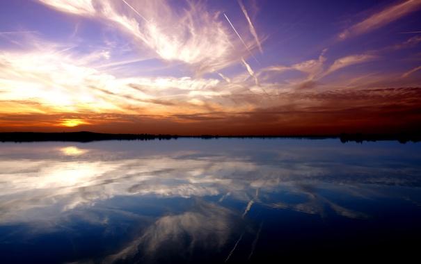Фото обои небо, вода, озеро, река, обои, пейзажи, красота