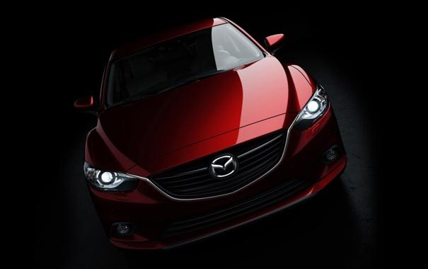 Фото обои Concept, фары, Мазда, Концепт, Седан, Mazda, полумрак
