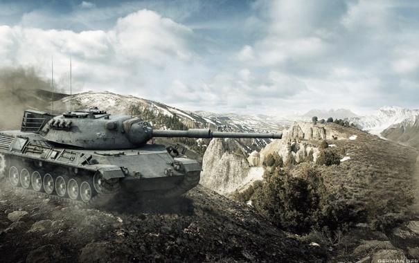 Фото обои Германия, WoT, World of Tanks, Мир Танков, Wargaming Net, Leopard I, Немецкий Танк