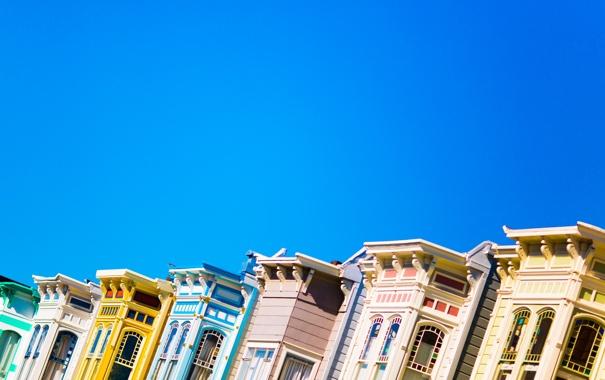 Фото обои небо, дома, San Francisco