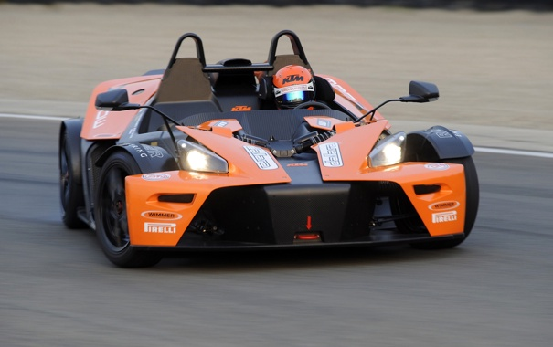 Фото обои фары, автомобиль, KTM, передок, X-Bow, GT4