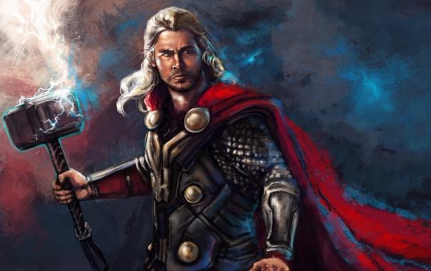 Фото обои бог, Thor, Marvel Comics, Chris Hemsworth, Thor: The Dark World
