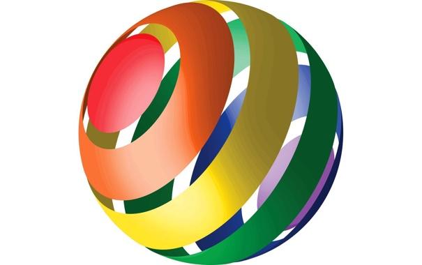 Фото обои абстракция, цвет, шар, объем