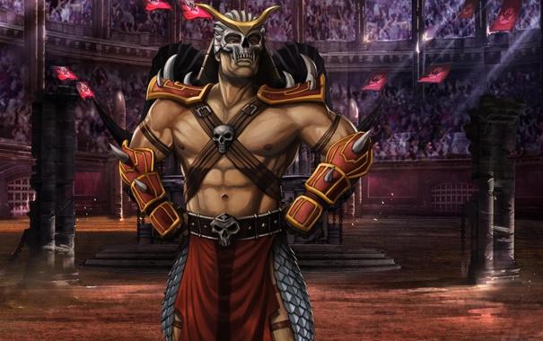 Фото обои арена, Mortal Kombat, Шао Кан, МК 9