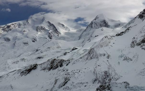 Фото обои холод, снег, вершины, гор