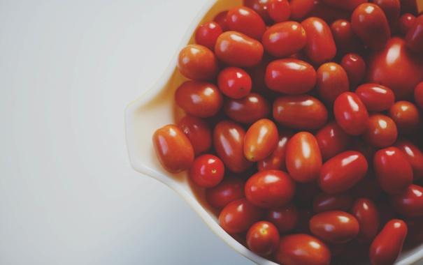 Фото обои красные, помидоры, томаты, овощ, помидорки