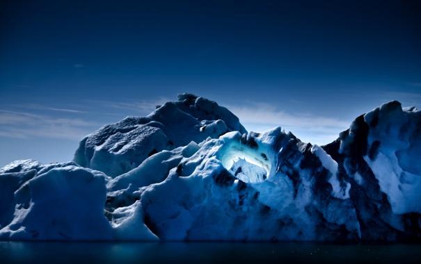 Фото обои свет, природа, ледник, айсберг