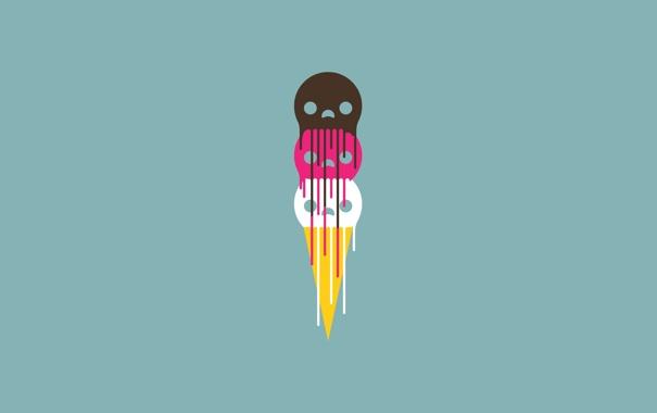 Фото обои рожи, течет, цветные, злые, ice-cream, недобрые, мороженое