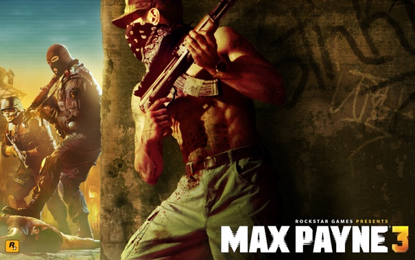 Фото обои полиция, бандит, калаш, Max Payne 3, rocstar