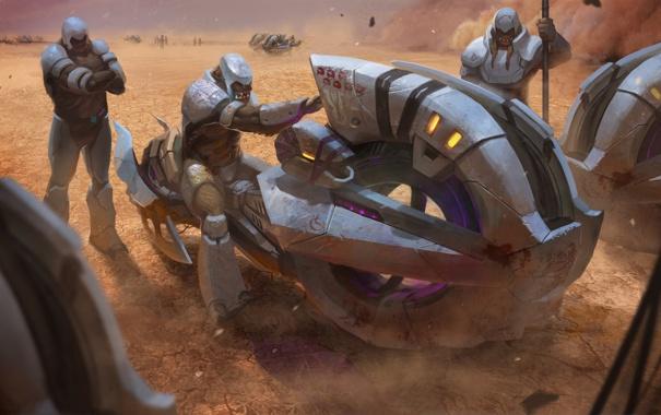 Фото обои транспорт, пустыня, броня, halo wars, отметки