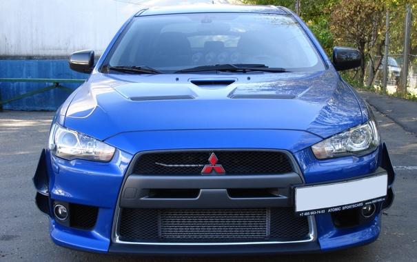 Фото обои Mitsubishi, Evo, Blue, Car, Evolution