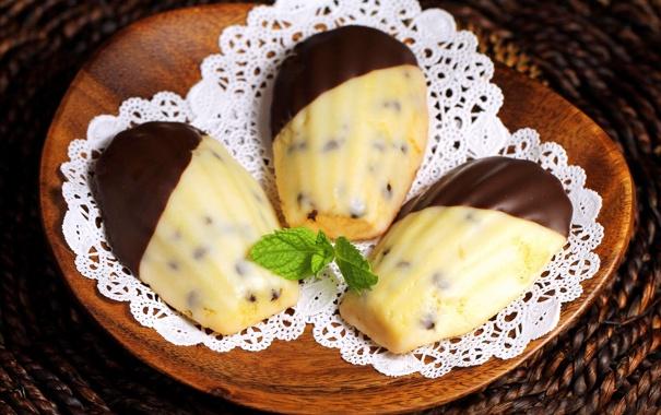 Фото обои шоколад, печенье, тарелка, сладости, пирожное, десерт, выпечка