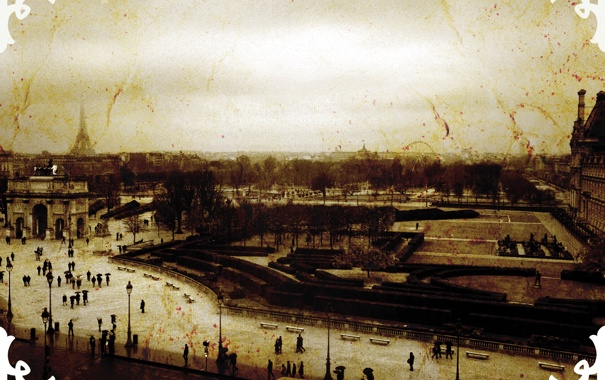 Фото обои дорога, Франция, Париж, старый стиль
