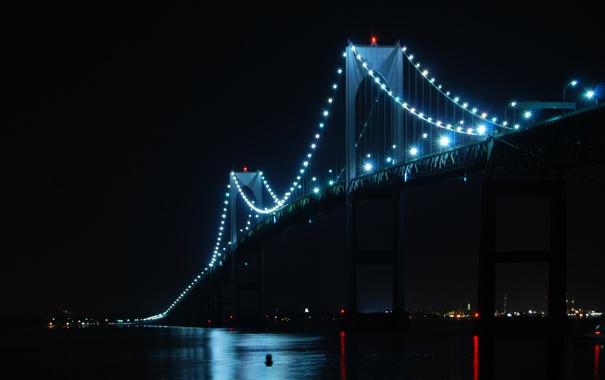 Фото обои USA, Rhode Island, Claiborne Pell Newport Bridge