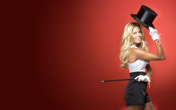 Фото обои шляпа, шортики, милая улыбка, приветствие, Silvie va der Vaart