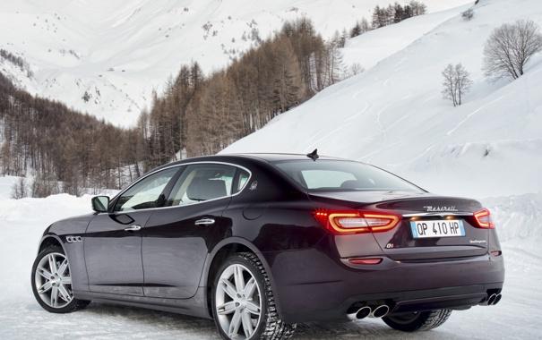 Фото обои задок, Quattroporte, Maserati, машина, мазерати, обои