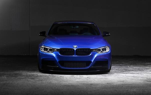 Фото обои BMW, blue, 335i, front, F30, Sedan, 3 Series