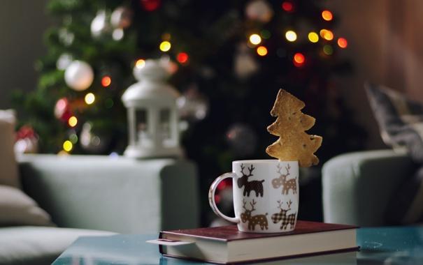 Фото обои праздник, кружка, олени