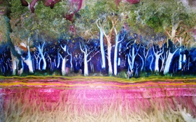 Обои деревья, корни, картина