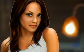 Картинка девушка, актриса, арт, Mila Kunis