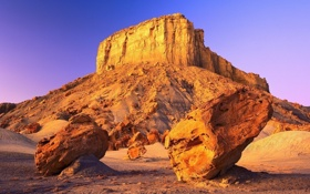 Обои desert, rocks, wind erosion